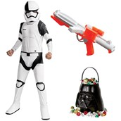 Star Wars Ep VIII: The Last Jedi - Child Executioner Trooper Costume with Blaster and Candy Pail