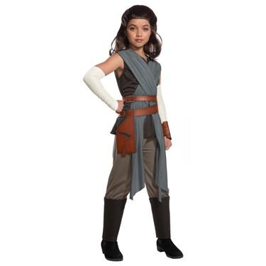 Star Wars Episode VIII - The Last Jedi Deluxe Girl's Rey Costume