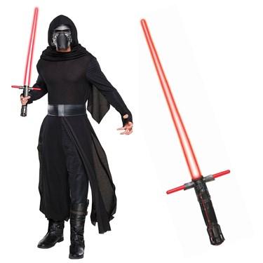Star Wars Episode VIII: The Last Jedi - Kylo Ren Classic Adult Costume and Lightsaber Bundle