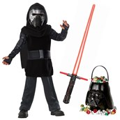 Star Wars Episode VIII: The Last Jedi - Kylo Ren Classic Child Costume and Lightsaber Bundle (8/10)