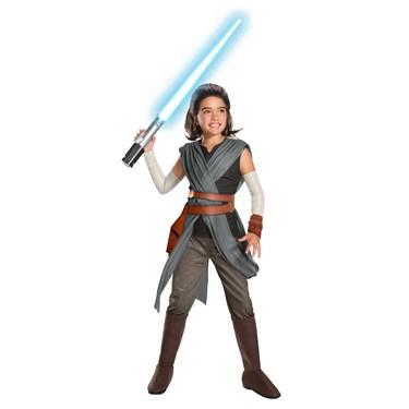Star Wars Episode VIII - The Last Jedi Super Deluxe Girl's Rey Costume