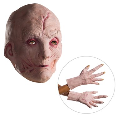 Star Wars Episode VIII: The Last Jedi - Supreme Leader Snoke Vinyl Mask and Latex Hands - One Size
