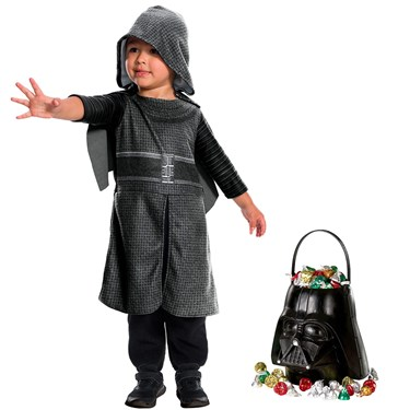 Star Wars Episode VII: The Force Awakens - Toddler Kylo Ren Costume and Candy Pail Bundle