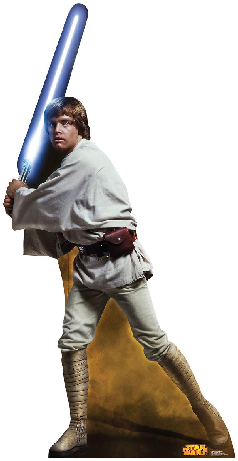 Star Wars Luke Skywalker Cardboard Stand Up 7.25