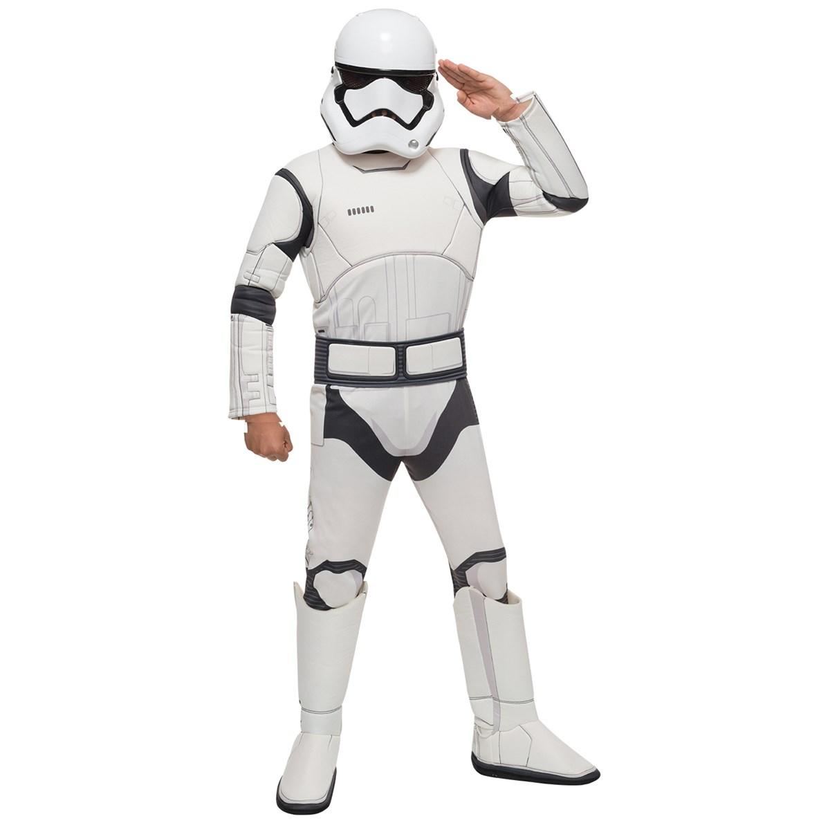 Star Wars: The Force Awakens - Boys Stormtrooper Deluxe Costume ...