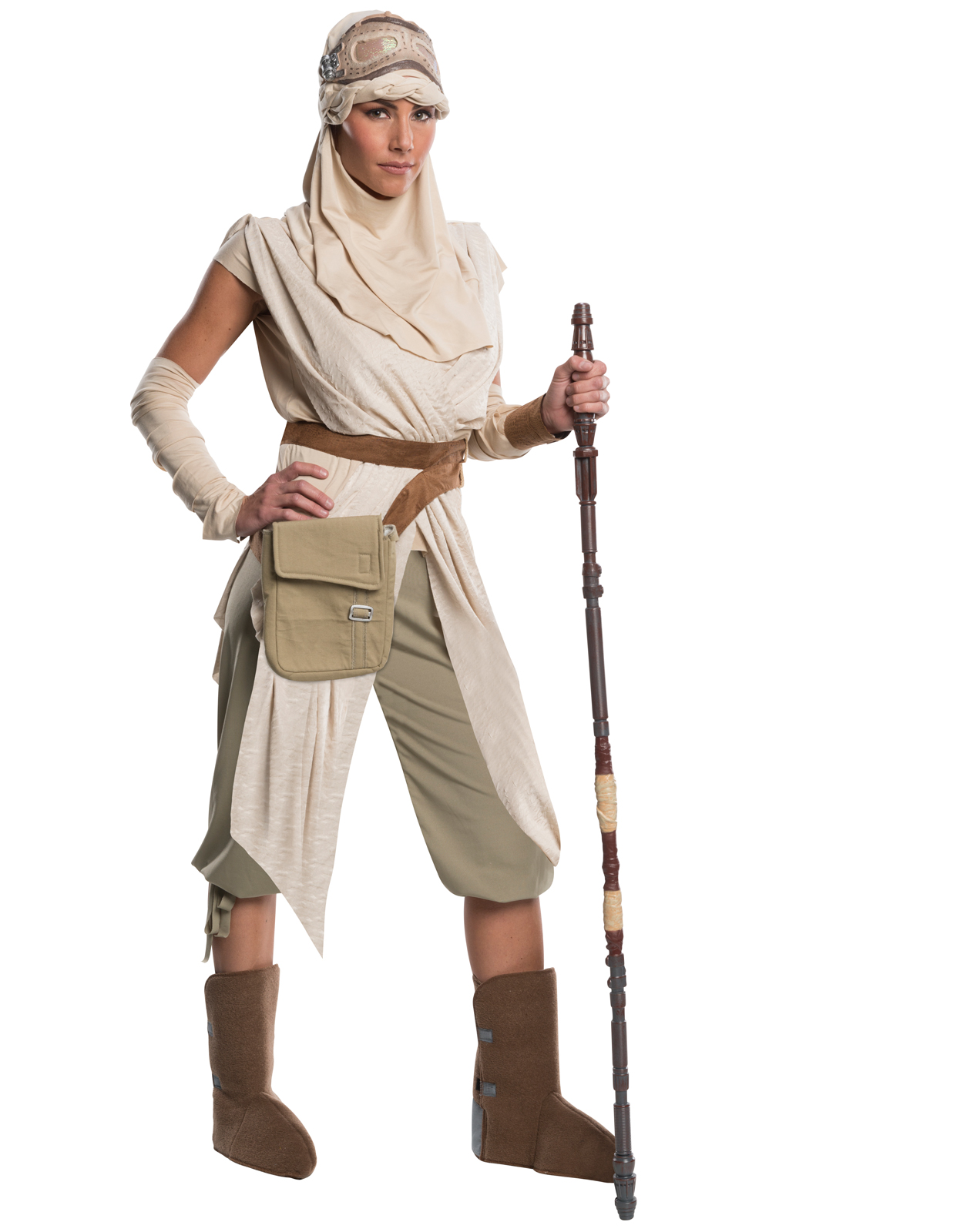 Star Wars: The Force Awakens - Rey Grand Heritage Adult Costume ...