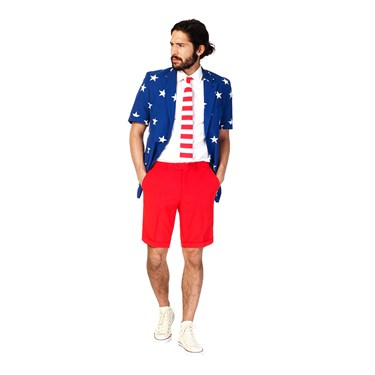 Stars and Stripes Opposuits Summer Suit Adult Costume
