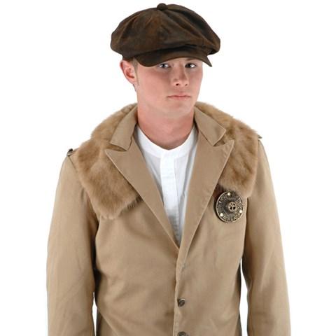 Steampunk Driver (Brown Suede) Hat Adult