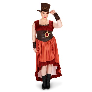 Steampunk Woman Adult Plus Costume