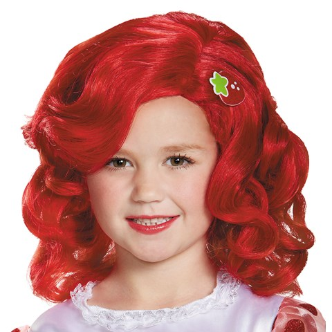 Strawberry Shortcake Deluxe Wig For Girls