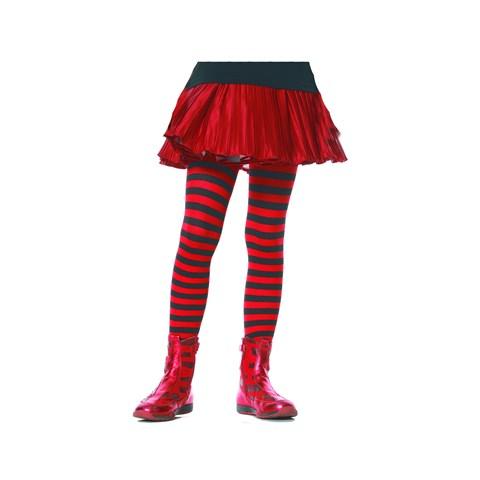 Striped (Black/Red) Child Tights