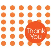 Sunkissed Orange Dots Thank You Notes (8)