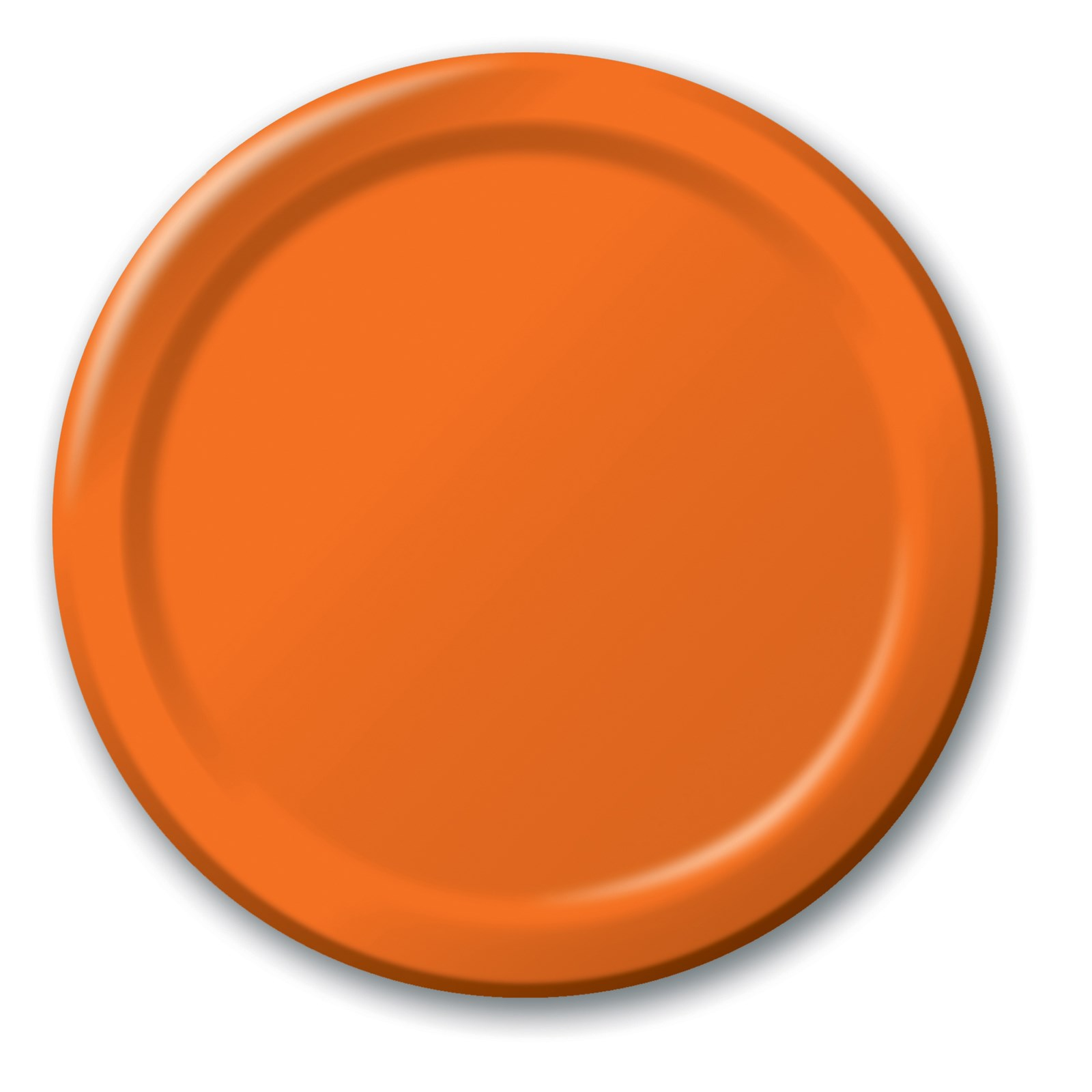 sunkissed orange orange dinner plates 24 count. Black Bedroom Furniture Sets. Home Design Ideas
