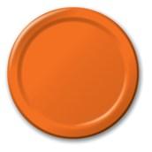Sunkissed Orange (Orange) Dinner Plates (24 count)