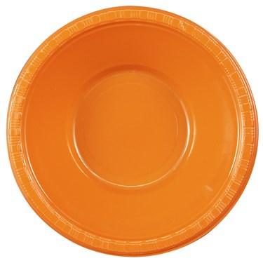 Sunkissed Orange (Orange) Plastic Bowls (20 count)