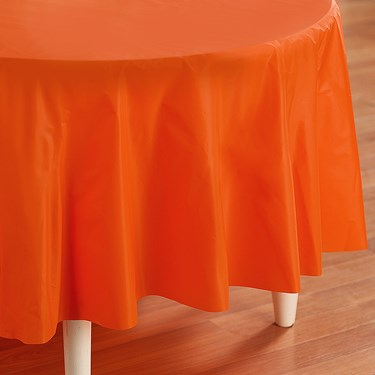 Sunkissed Orange (Orange) Round Tablecover