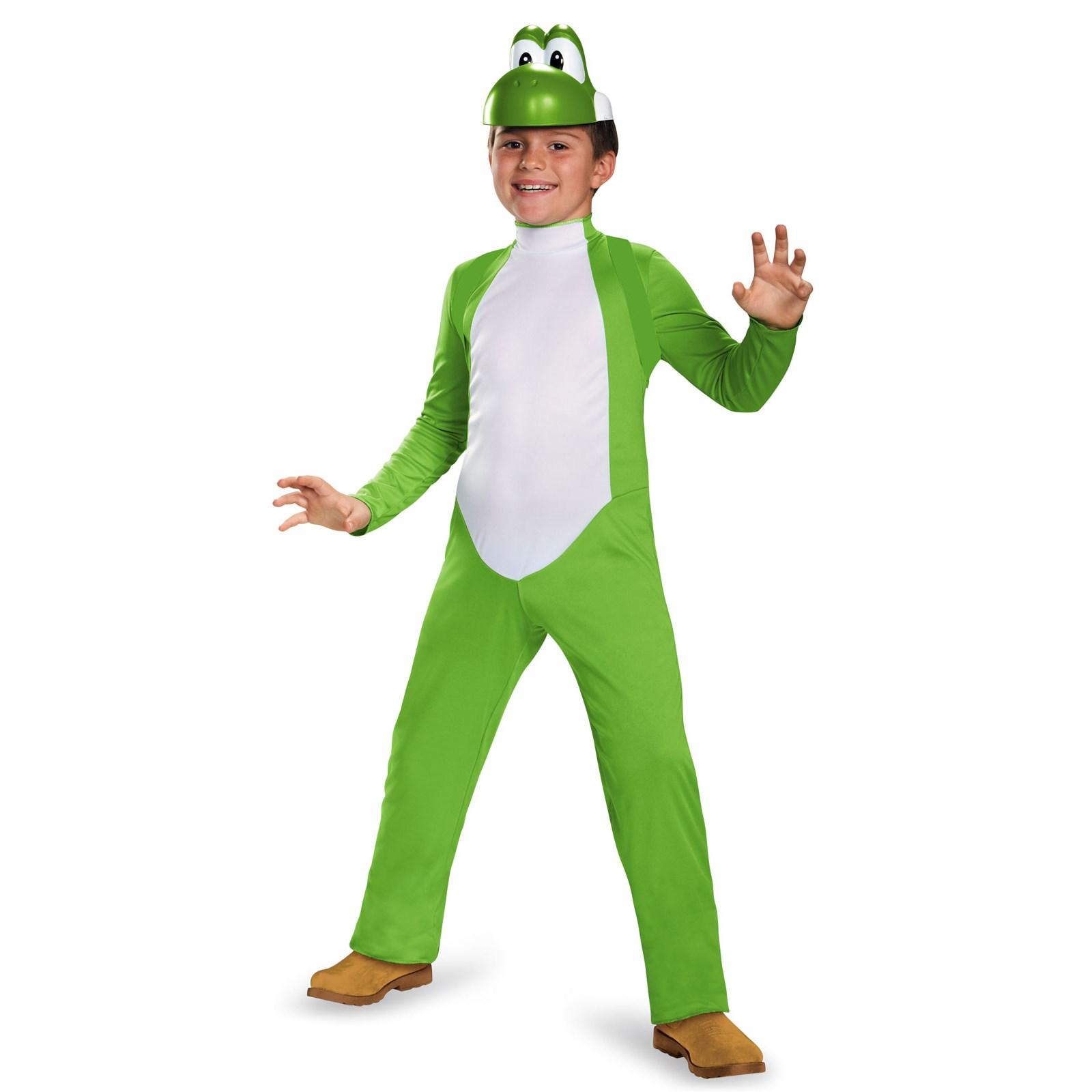 Super Mario Bros: Kids Yoshi Deluxe Costume | BuyCostumes.com