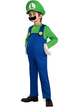 Click Here to buy Super Mario Bros. - Luigi Deluxe Toddler & Kids Co from BuyCostumes