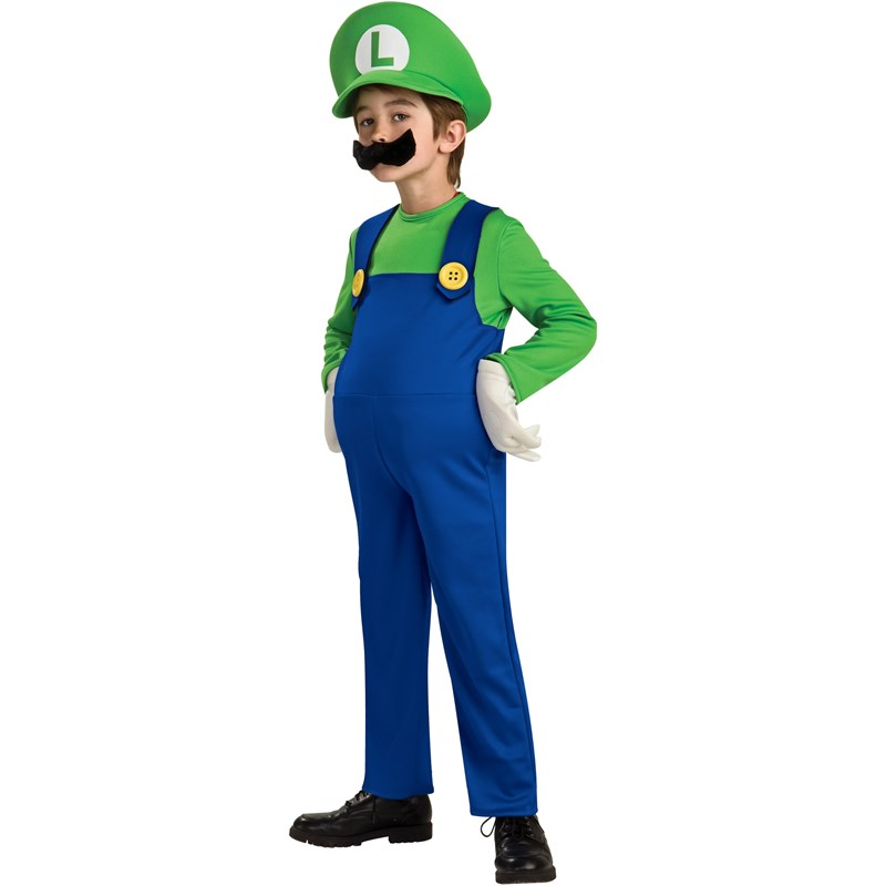 Super Mario Bros.   Luigi Deluxe Toddler  and  Child Costume for the 2015 Costume season.