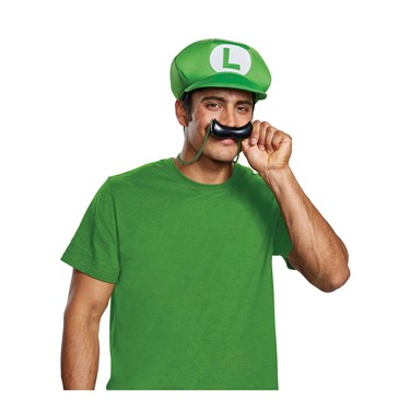Super Mario Bros.  Luigi Hat & Mustache Necklace Kit