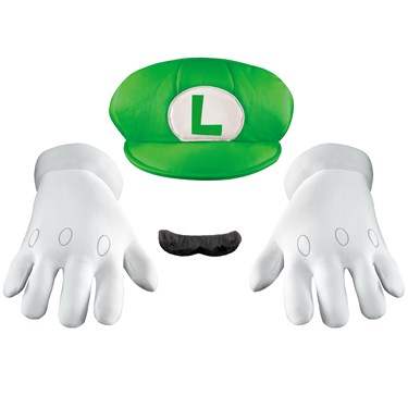 Super Mario Bros. - Luigi Hat, Gloves And Mustache Kit