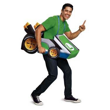 Super Mario Bros.  Luigi Kart Adult Costume
