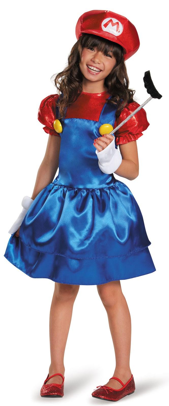 Super Mario Bros: Mario w/Skirt Costume For Girls