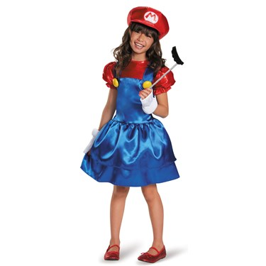 Super Mario Bros: Mario w/Skirt Costume For Girls