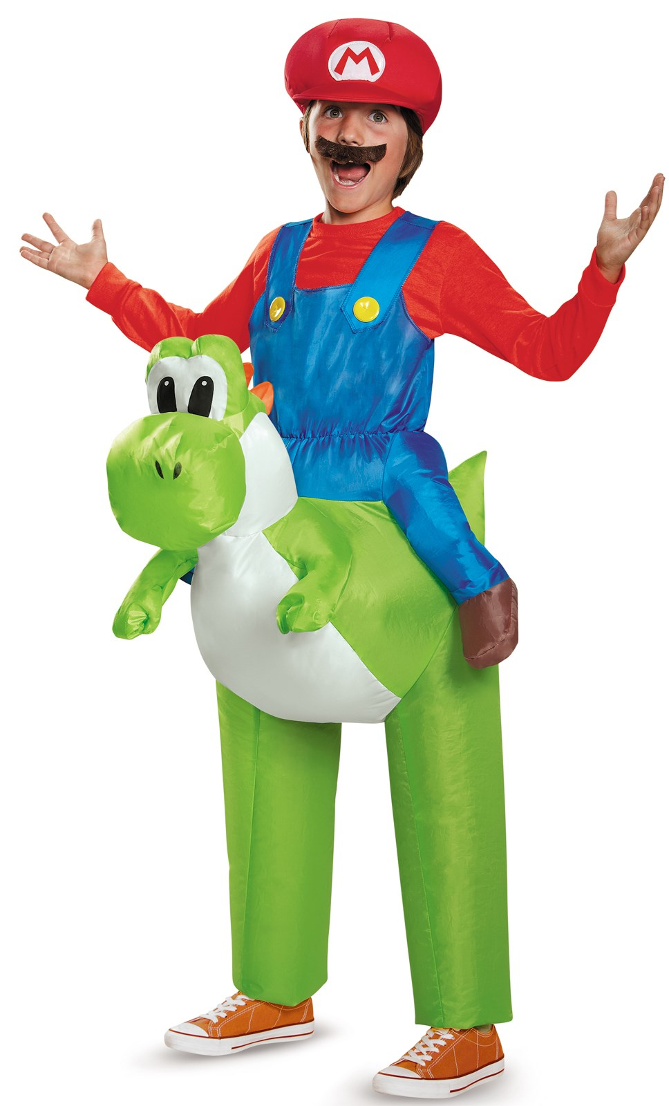 super mario bros ride a yoshi inflatable child costume - Koopa Troopa Halloween Costume