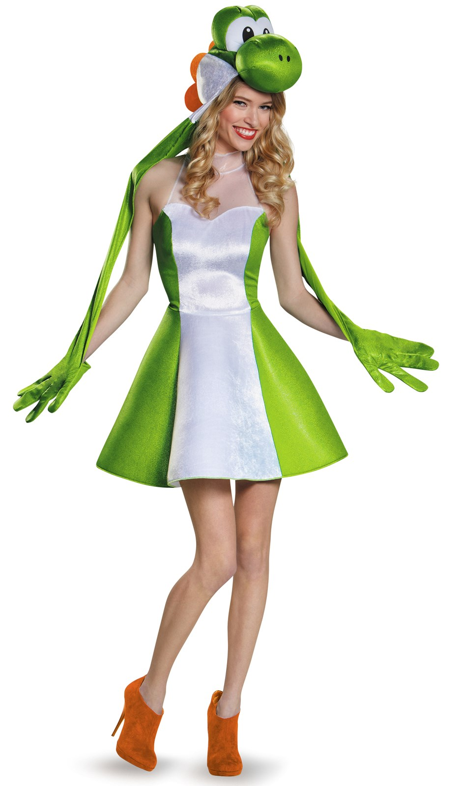 Super Mario Bros: Yoshi Womens Costume For Adults ...
