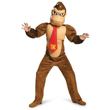 Super Mario Brothers Boys Donkey Kong Deluxe Costume