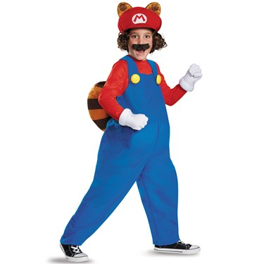 Super Mario Brothers Boys Raccoon Deluxe Costume