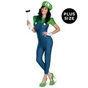 Super Mario Brothers - Deluxe Female Luigi Plus Size Costume