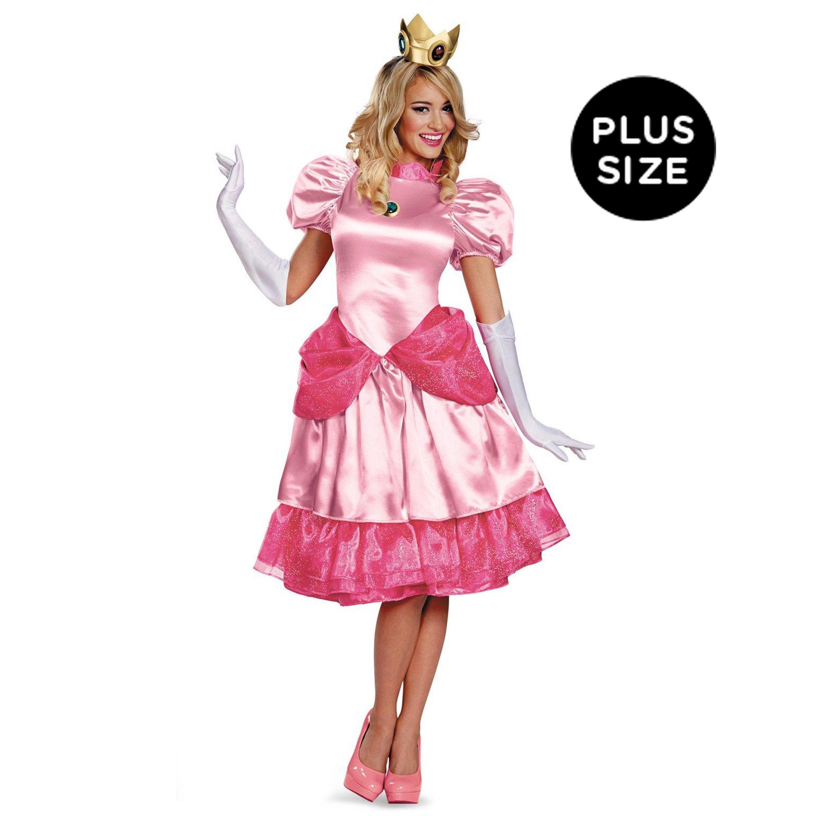 Super Mario Brothers - Deluxe Princess Peach Plus Size Costume ...