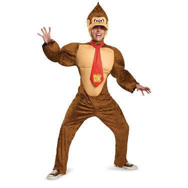 Super Mario Brothers Donkey Kong Deluxe Adult Costume