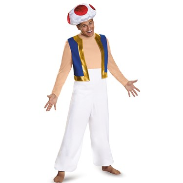 Super Mario: Deluxe Toad Costume For Adults