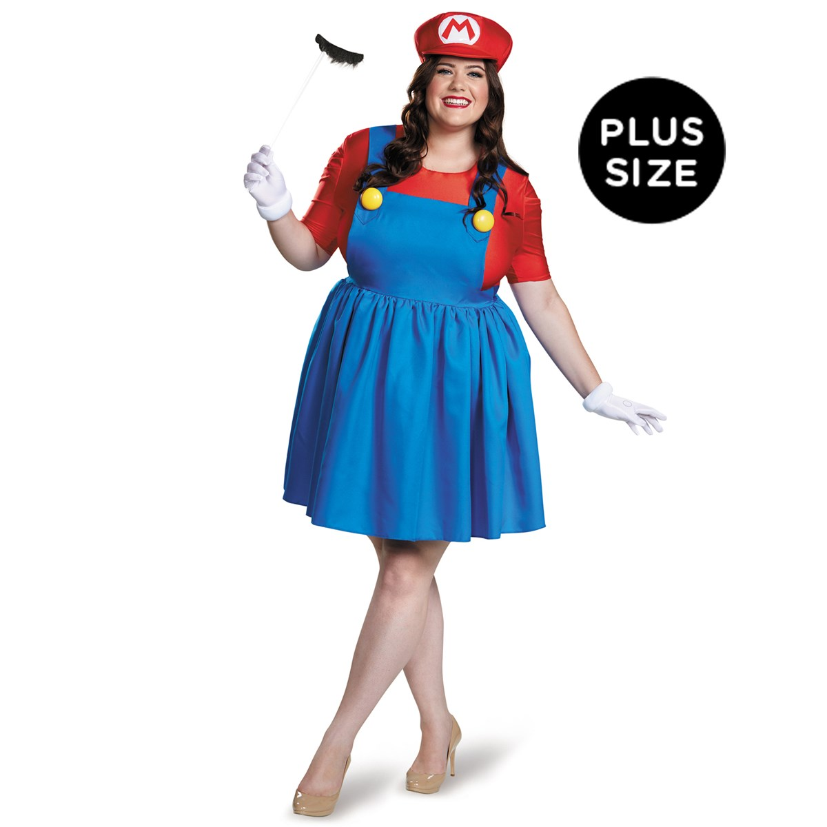 super mario plus size mario costume wskirt for women buycostumescom - Girl Mario And Luigi Halloween Costumes