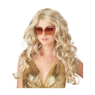 Super Model Blonde Sexy Adult Wig