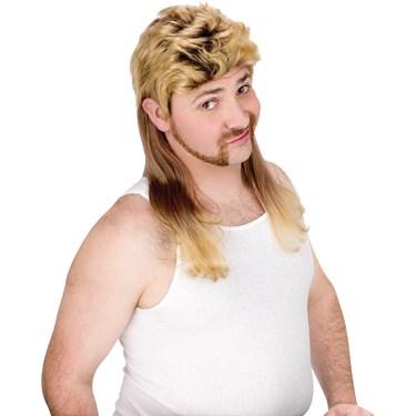 Super Mullet (Blonde) Wig Adult