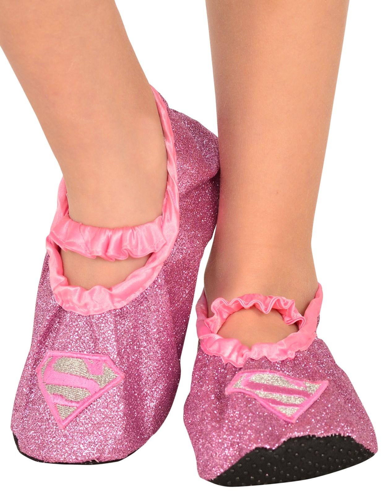 Supergirl – Classic Glitter Child Slipper Shoes