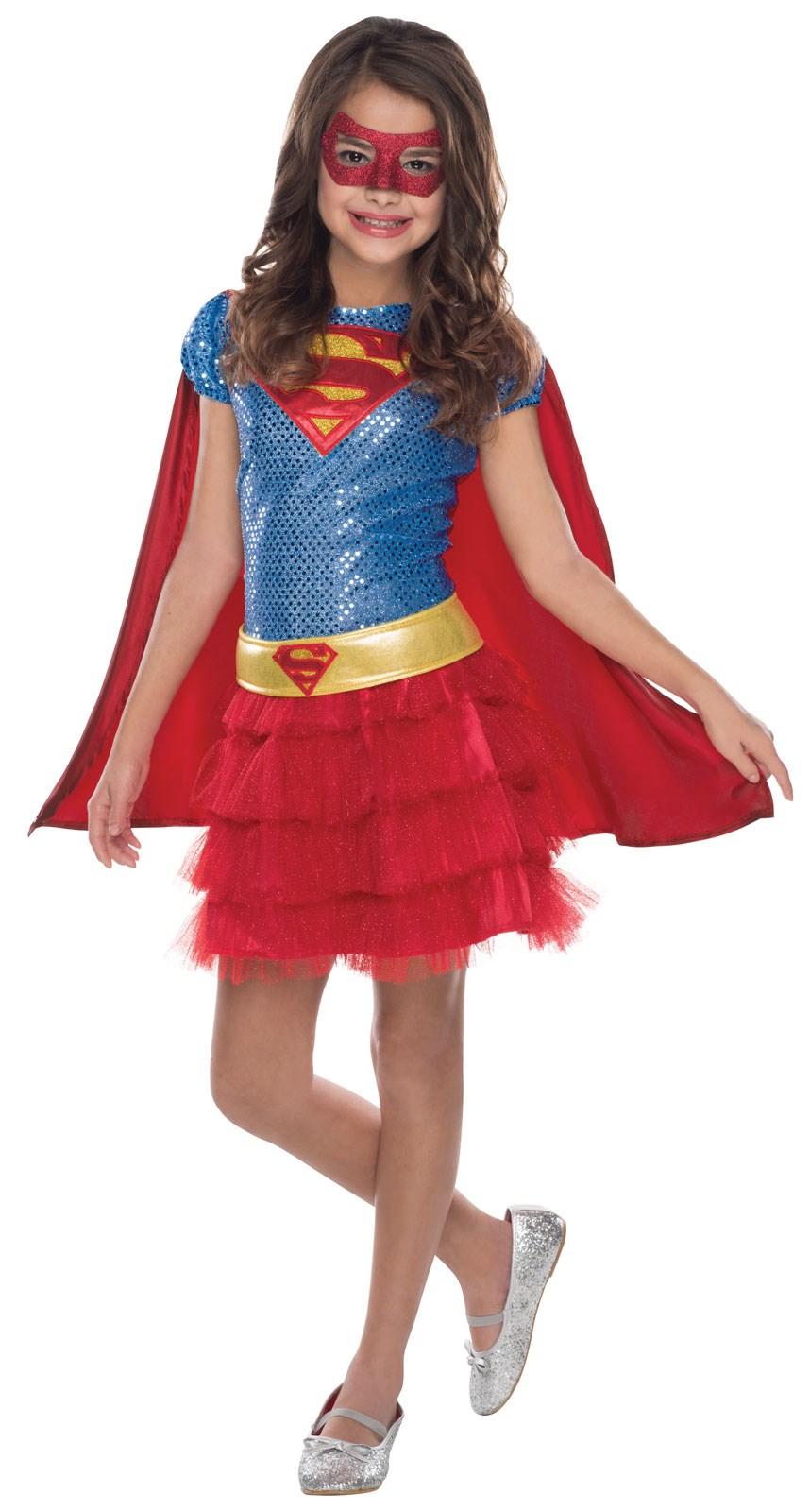 Supergirl Sequin Costume For Girls