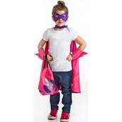 Superhero Drawstring Backpack Dress Up Set For Girls