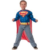 Superman Deluxe Muscle Chest Shirt Box Set Child One Size
