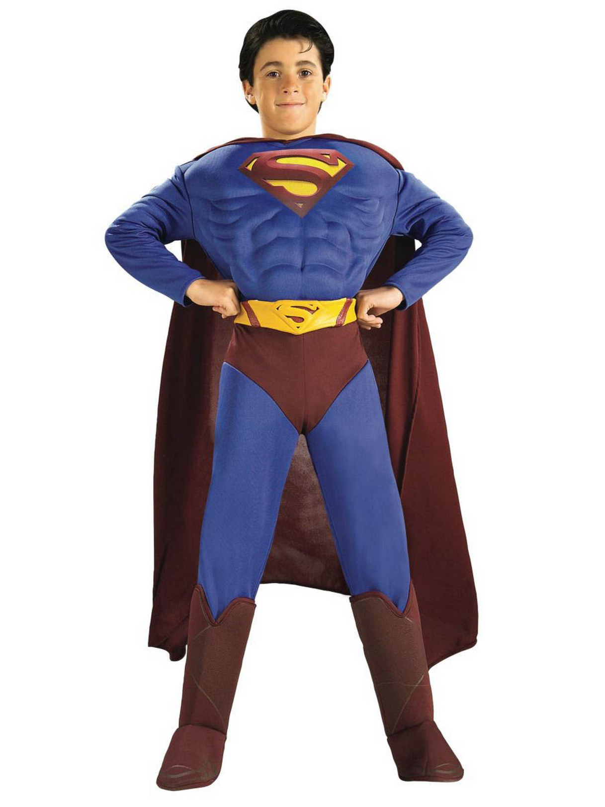 2d487880e48 Details about Superman Returns Deluxe Muscle Chest Child Costume