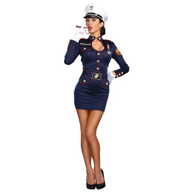 Take Charge Marge Womens Captain Costume