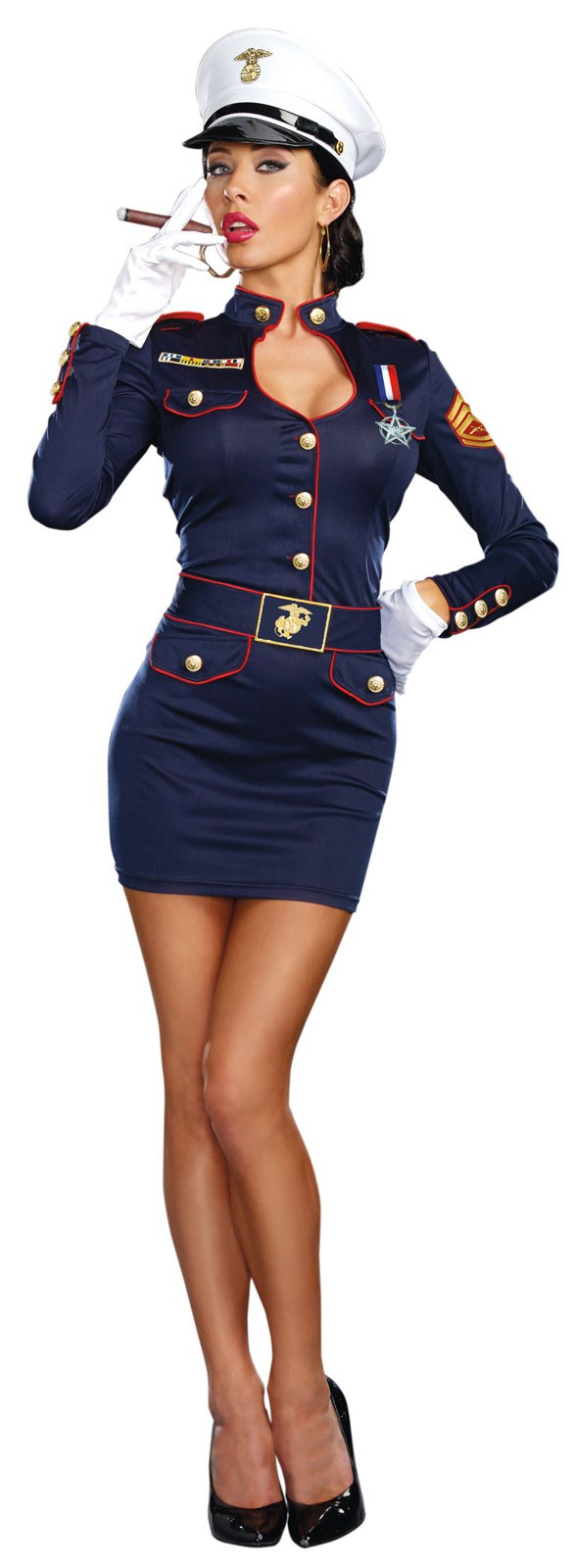 Take Charge Marge Womens Captain Costume | BuyCostumes.com