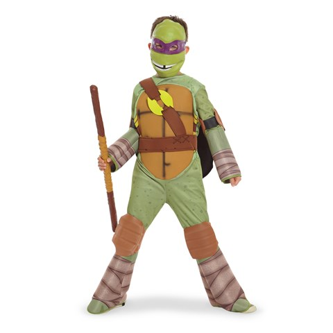 Teenage Mutant Ninja Turtle - Donatello Kids Costume with Vinyl Mask