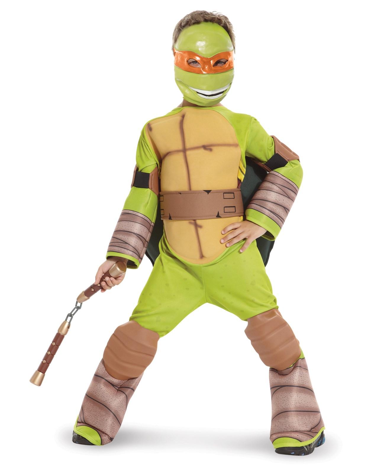 Teenage Mutant Ninja Turtle - Michelangelo Kids Costume with Vinyl ...