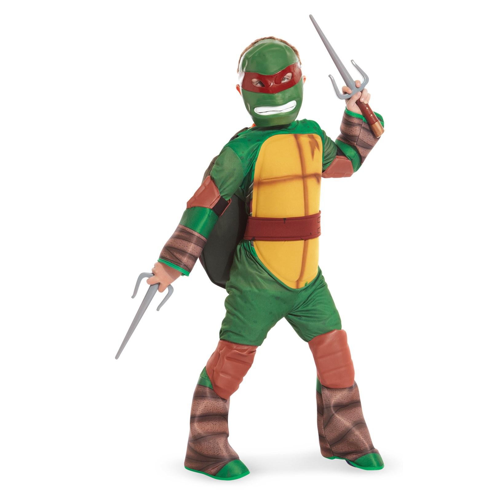 teenage mutant ninja turtle raphael kids costume with vinyl mask - Teenage Mutant Ninja Turtles Halloween Costumes For Kids