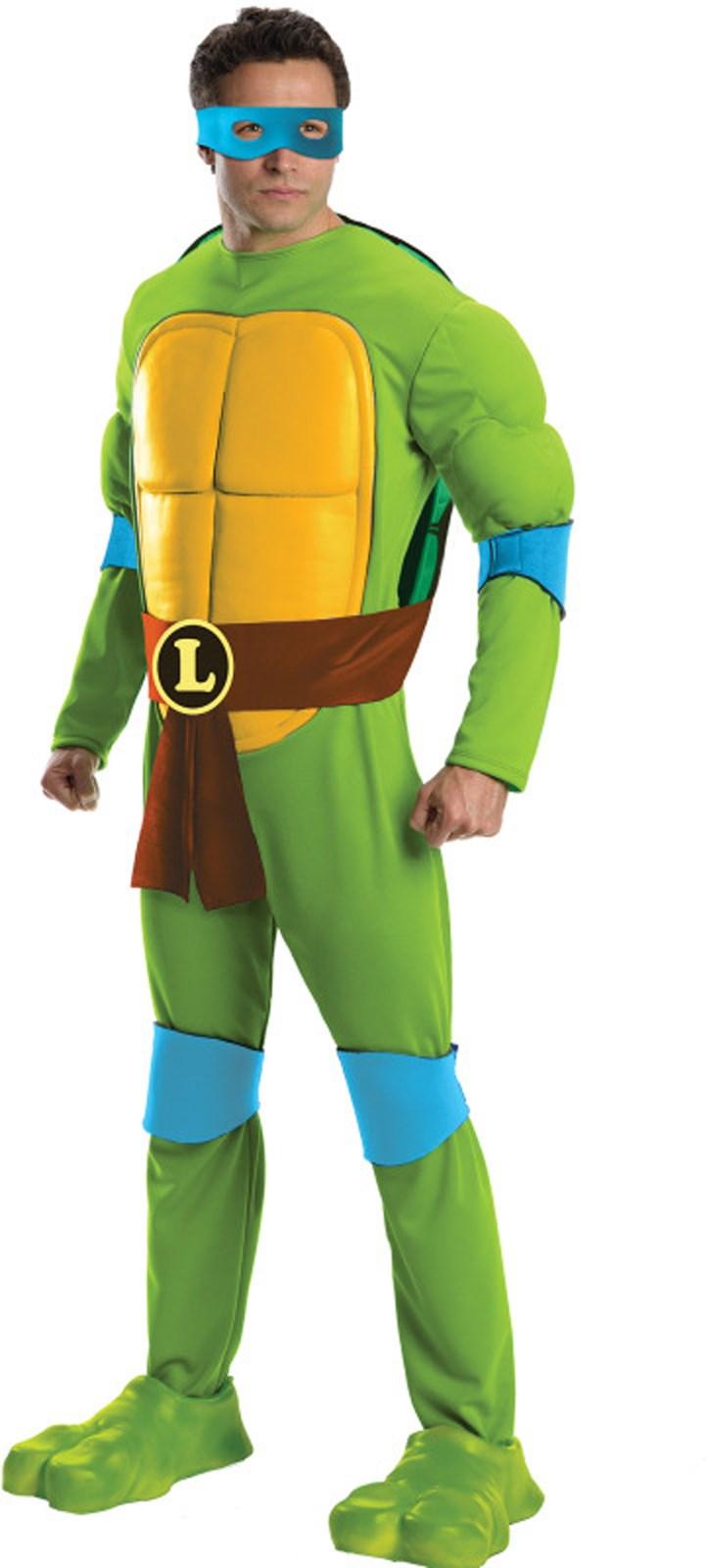 Ninja Turtle Nails: Teenage Mutant Ninja Turtles Deluxe Leonardo Adult Costume